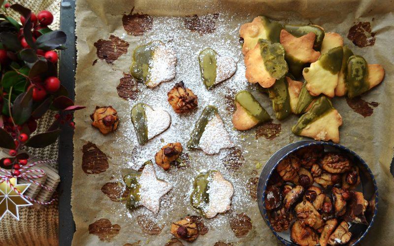 Matcha-Butterkekse & Banane-Tonka-Plätzchen