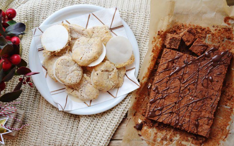 Weiße Schoko-Makronen & Mohn-Brownies
